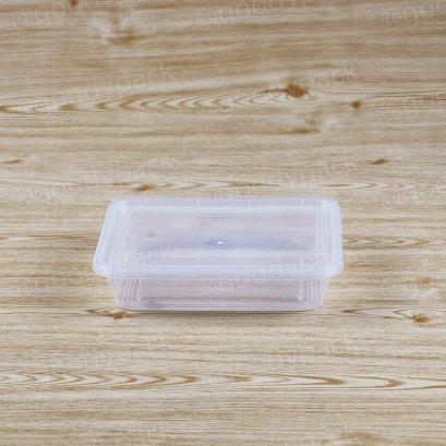 กล่องอาหารเหลี่ยม 500 ml+ฝาสีใส